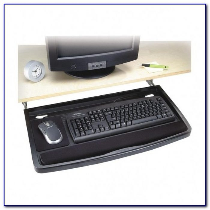 Under Desk Mounted Mouse Tray Desk Home Design Ideas