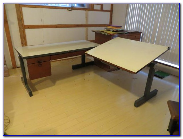 L Shaped Drafting Table Desk Home Design Ideas