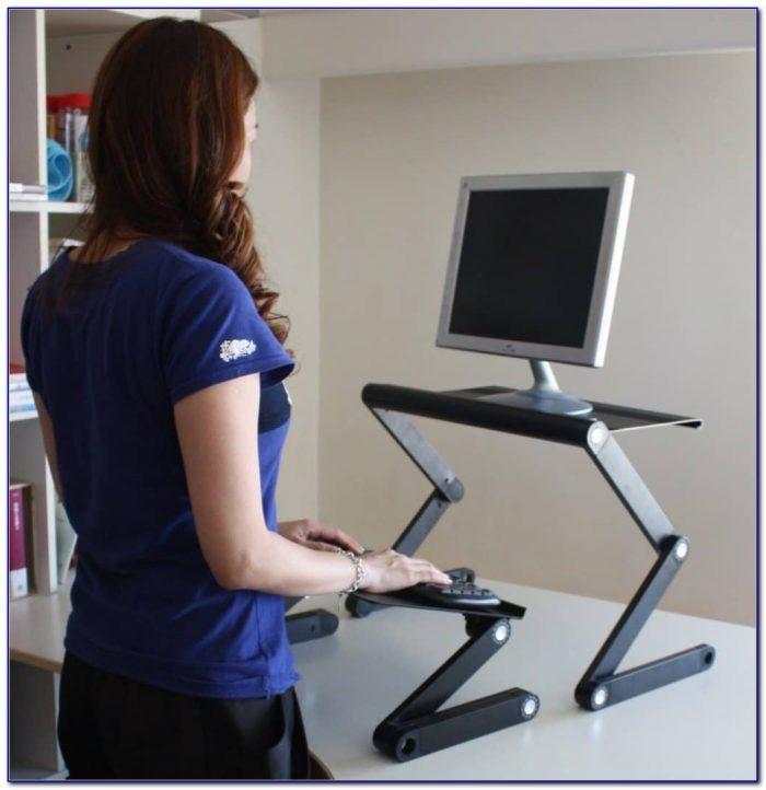 Mobile Ergonomic Stand Up Desk Computer Workstation