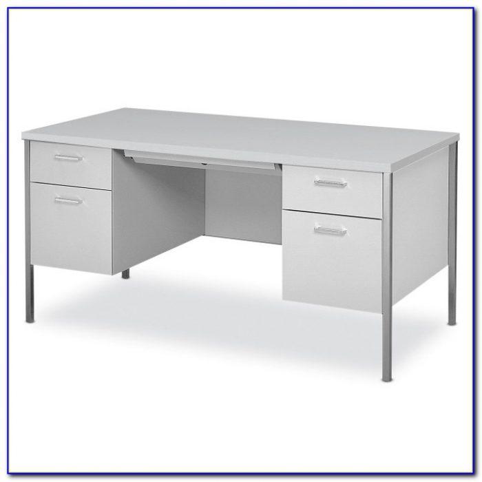 Modern Double Pedestal Executive Desk