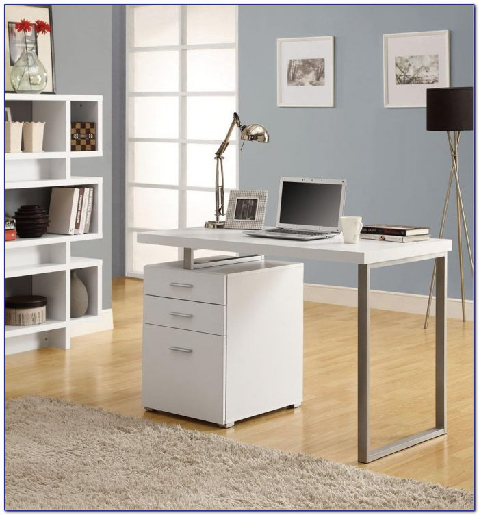 Glass computer desk with drawers desk home design Designer glass computer desk