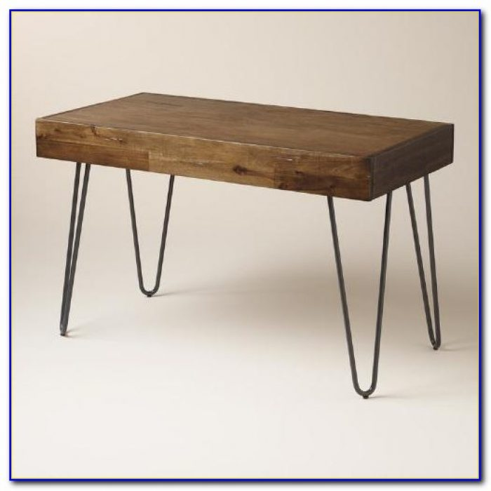 Reclaimed Wood Desk With Metal Legs