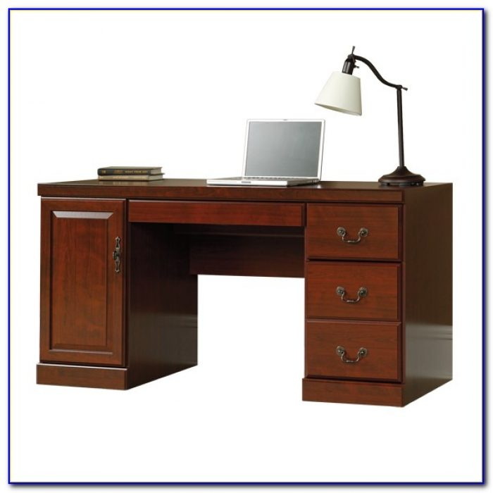 Sauder Heritage Hill Large Executive Desk Hutch Desk