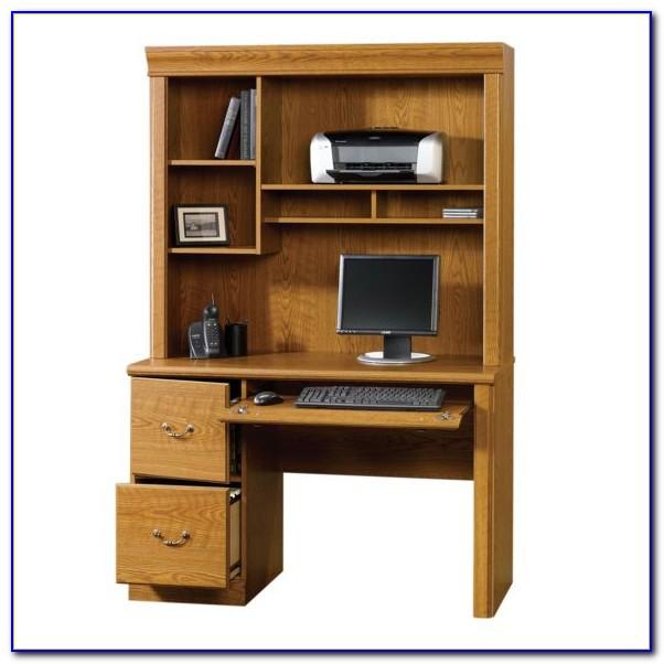 Sauder Orchard Hills Computer Desk Carolina Oak Finish Corner