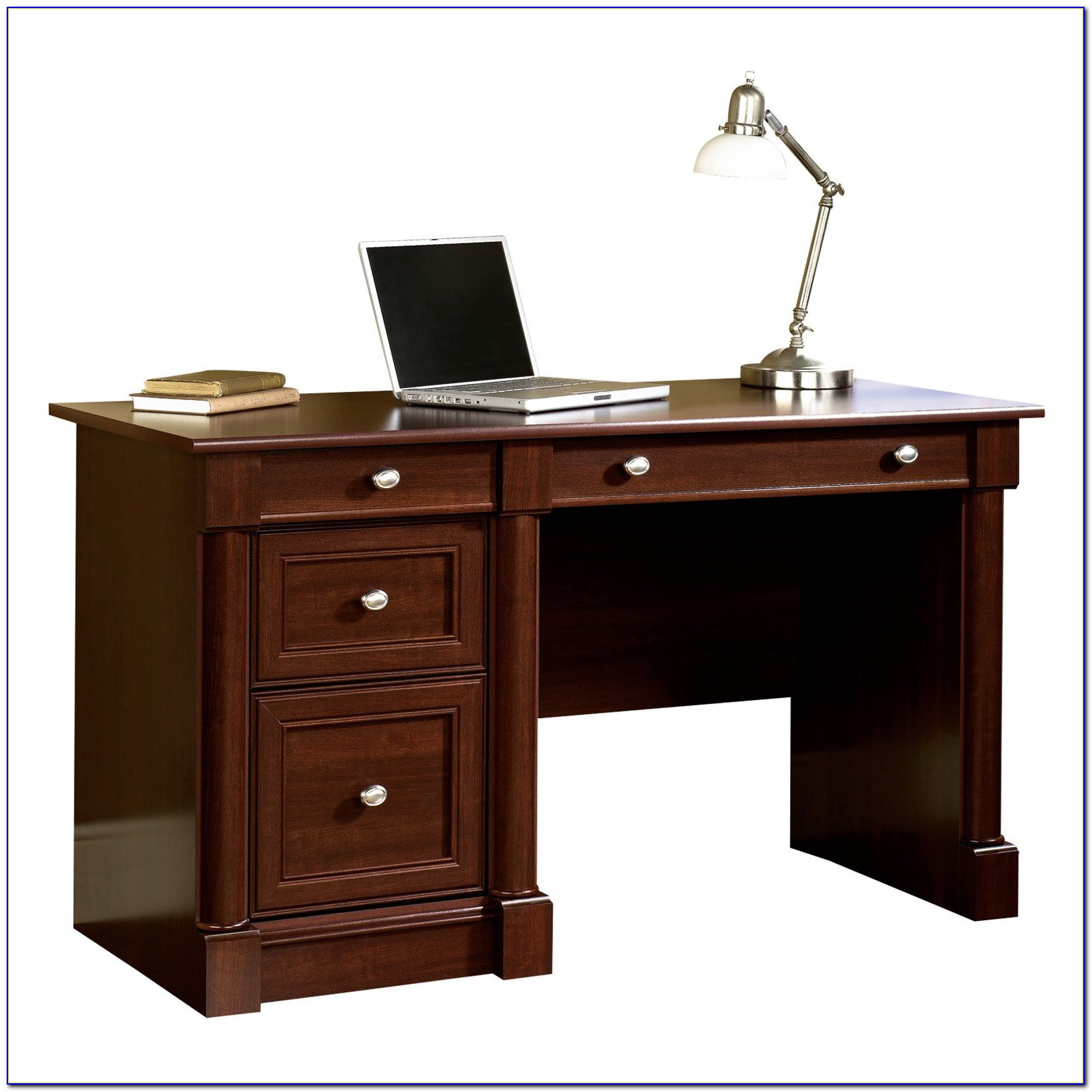 Sauder Palladia Computer Desk With Hutch In Cherry