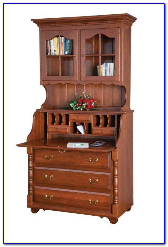 White Secretary Desk With Drawers Desk Home Design