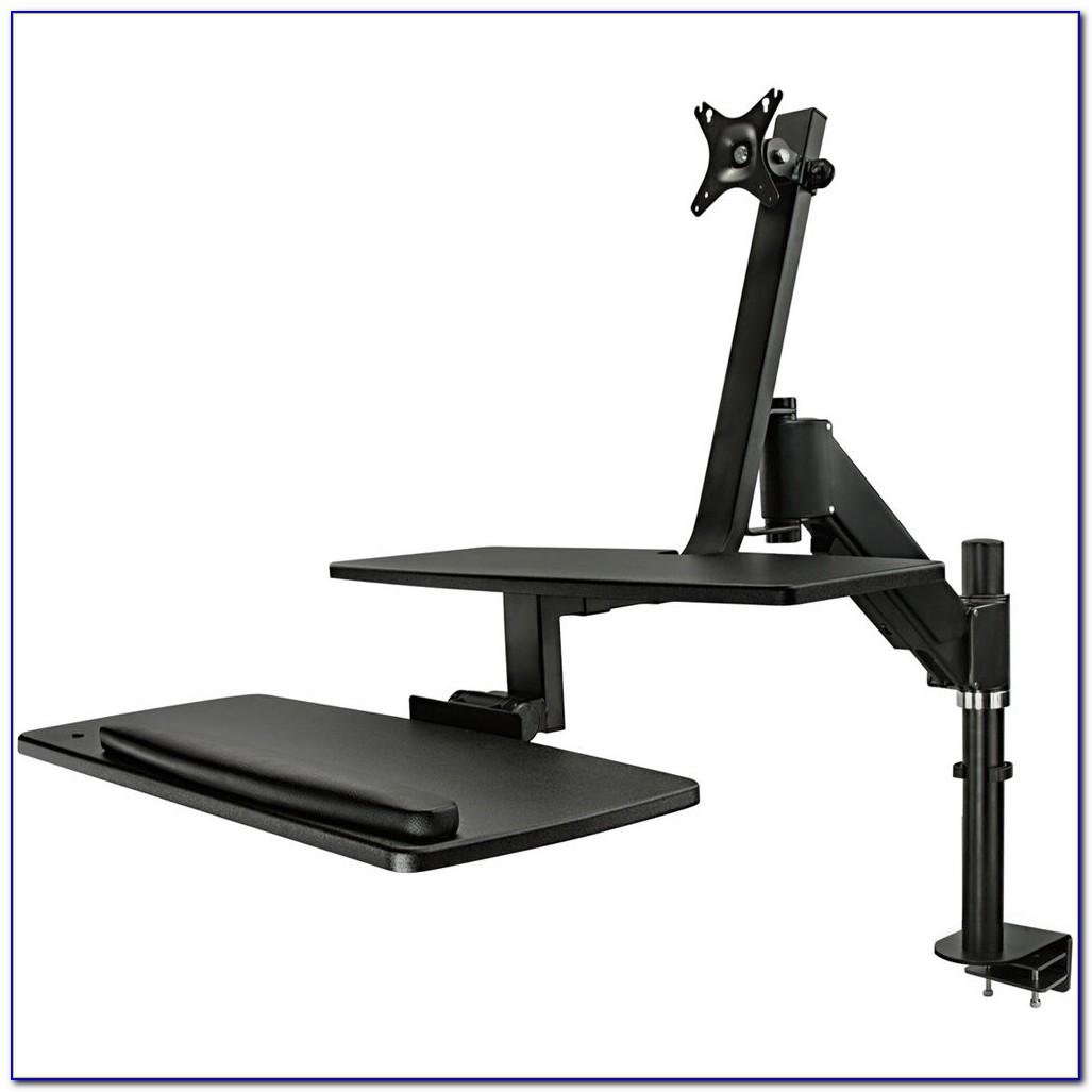 Sit Stand Desk Mount System Desk Home Design Ideas