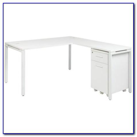 Small Antique White Corner Desk