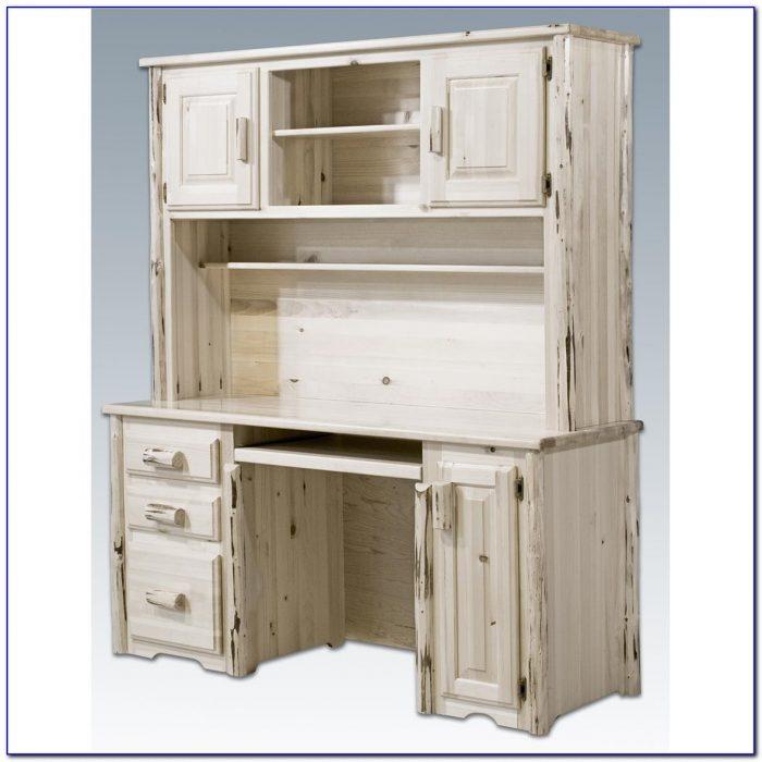 Small Desk With A Hutch