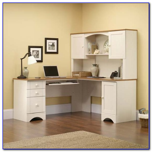 Target Antique White Corner Desk