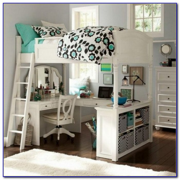 Teenage Bunk Bed With Desk