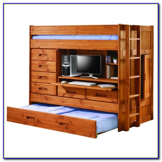 Bunk Bed With Dressre And Desk