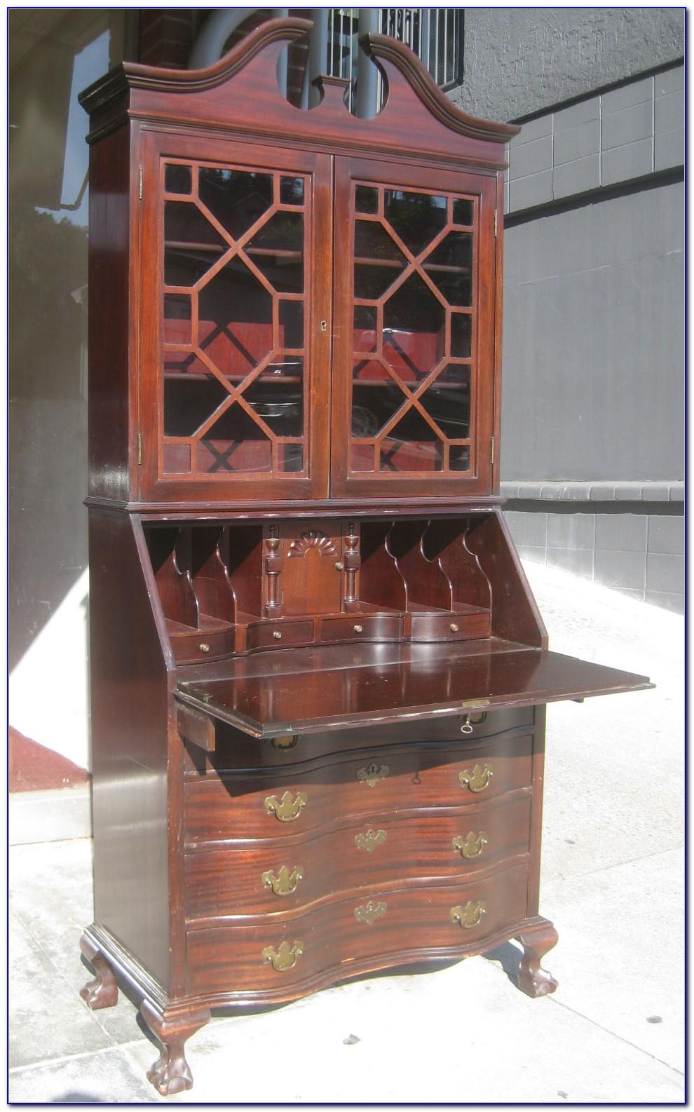vintage secretary desk with hutch desk home design. Black Bedroom Furniture Sets. Home Design Ideas