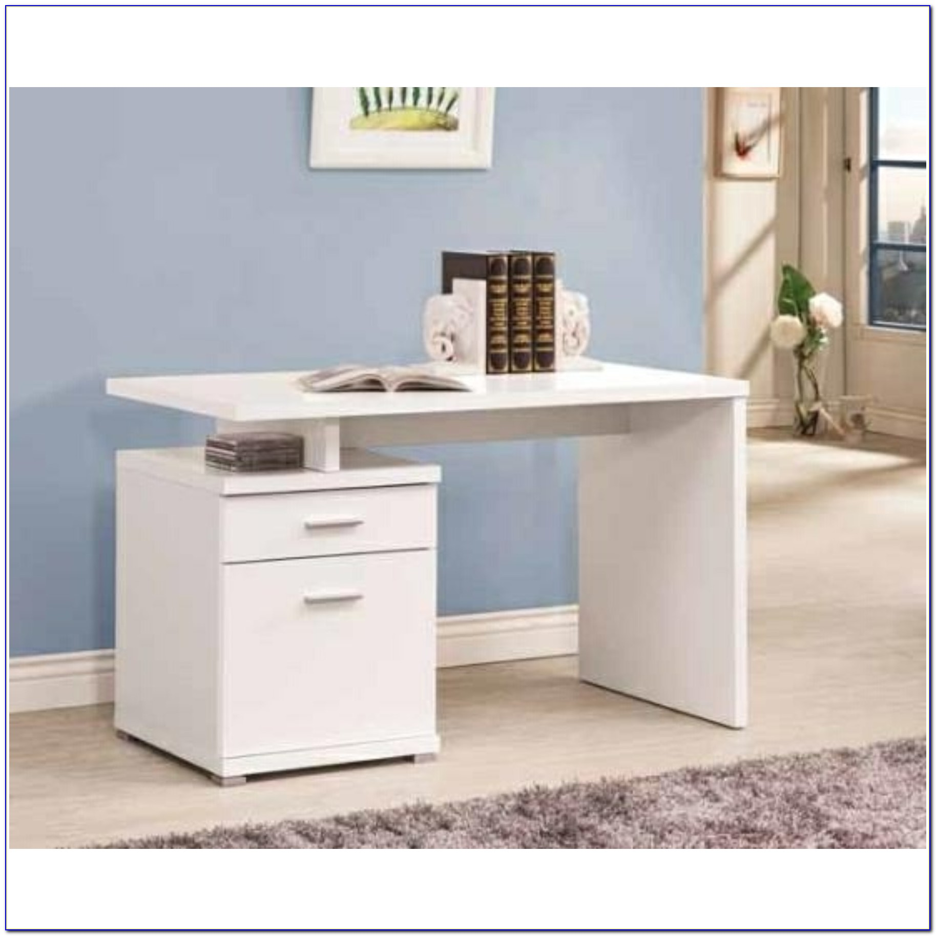 White Computer Desk With File Drawer Desk Home Design