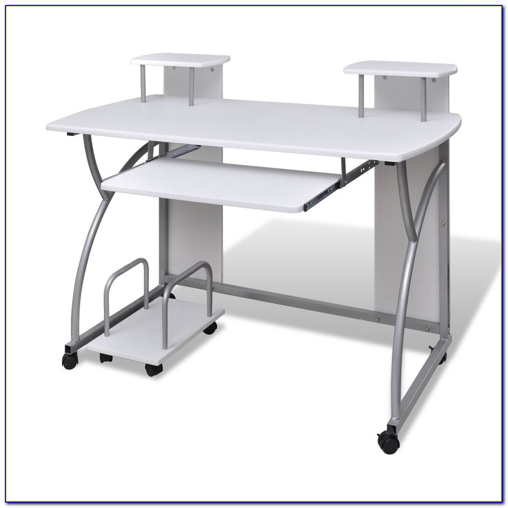 Computer Desk With Pullout Keyboard Tray Comfort
