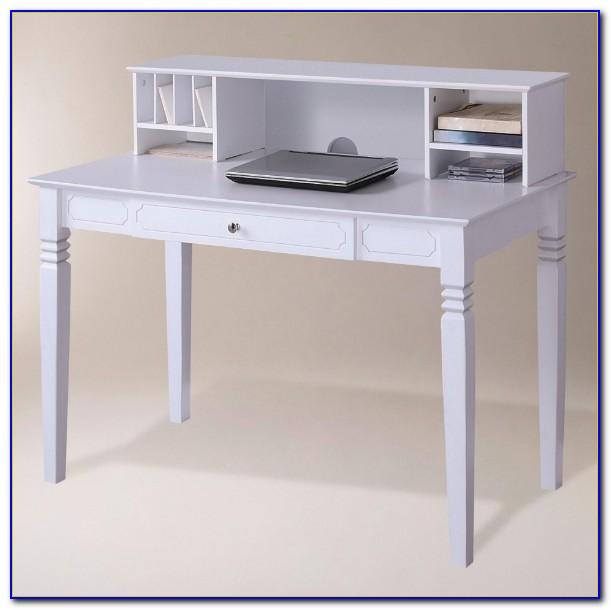 White Desk With A Hutch