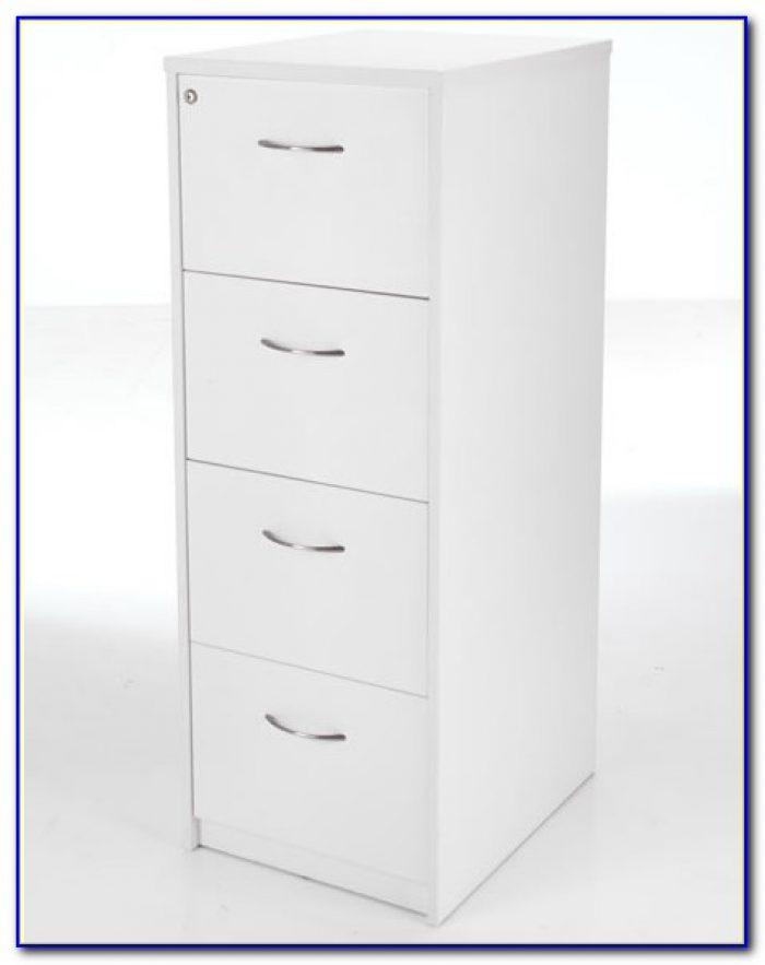 White Desk With File Storage