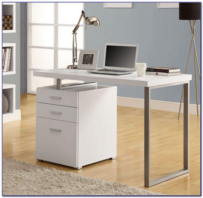 White Hollow Core Left Or Right Facing Corner Desk Desk