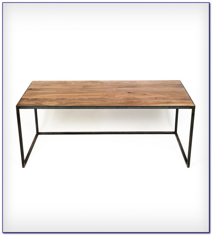 Wood Top Desk With Metal Legs
