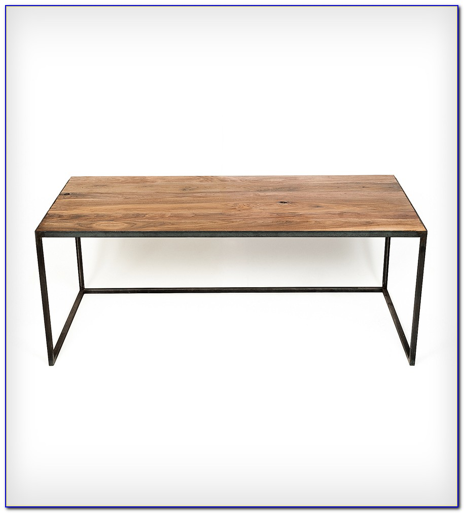 Wood top desk with metal legs download page home design for Metal desk with wood top