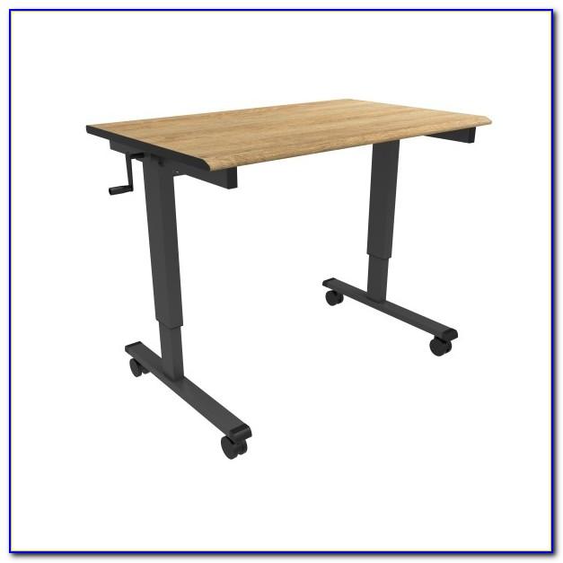 Crank Adjustable Height Standing Desk Desk Home Design
