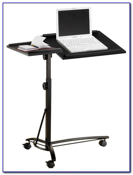 Adjustable Height Rolling Laptop Desk