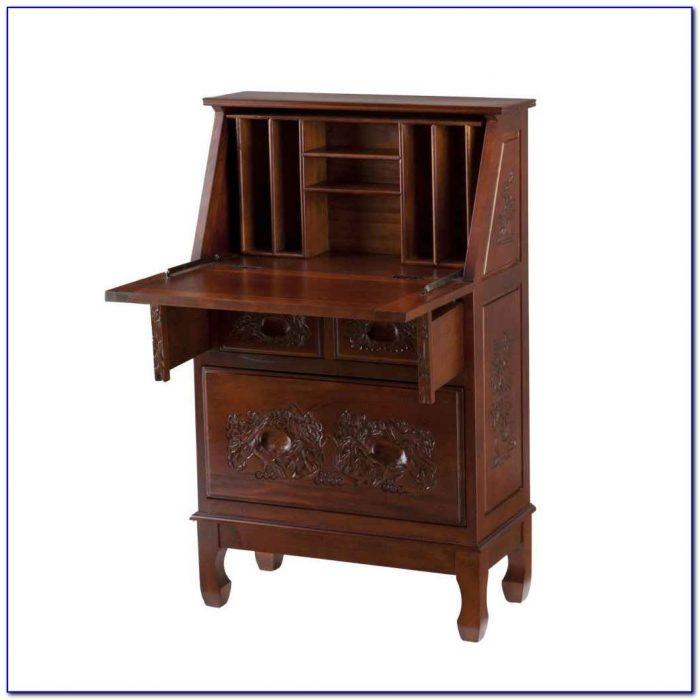Drop front secretary desk with hutch desk home design for Small drop down desk