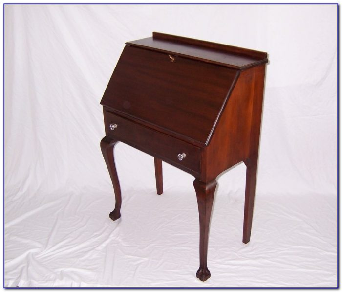 Antique drop down writing desk desk home design ideas for Small drop down desk