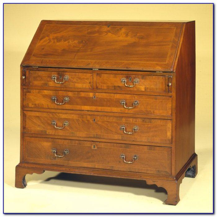 Antique Pine Slant Front Desk
