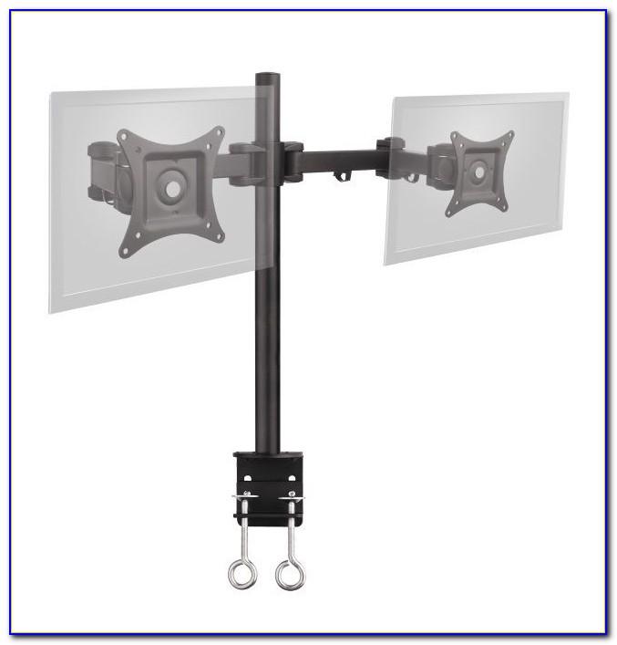 Desk Mount Dual Monitor Arm Desk Home Design Ideas