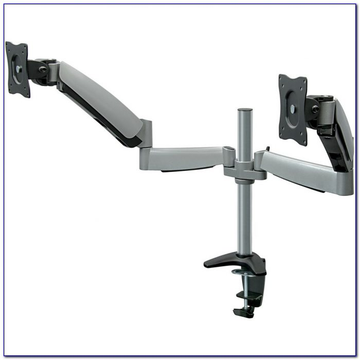 Desk Mount Dual Monitor Arm Desk Home Design Ideas