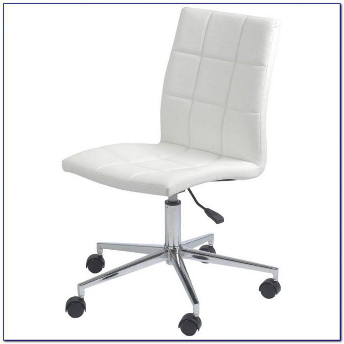 Armless Swivel Office Chair