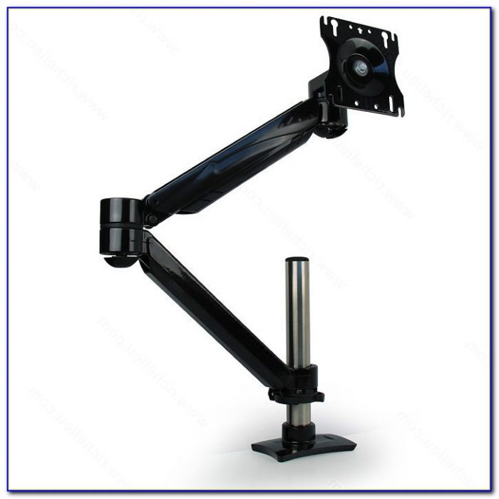 Articulated Computer Stand : Articulating quad monitor desk mount home design