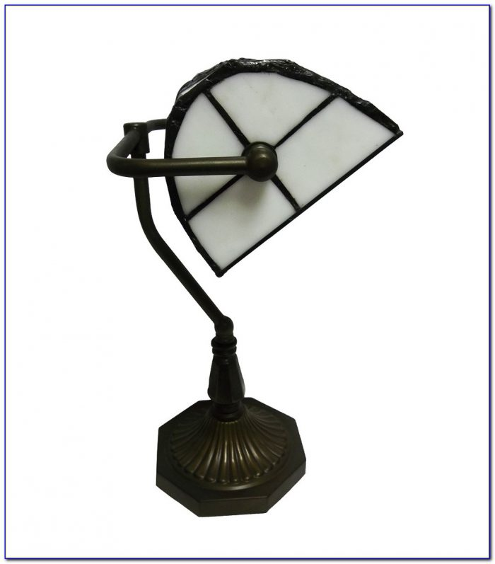 Bankers Tiffany Table Lamp