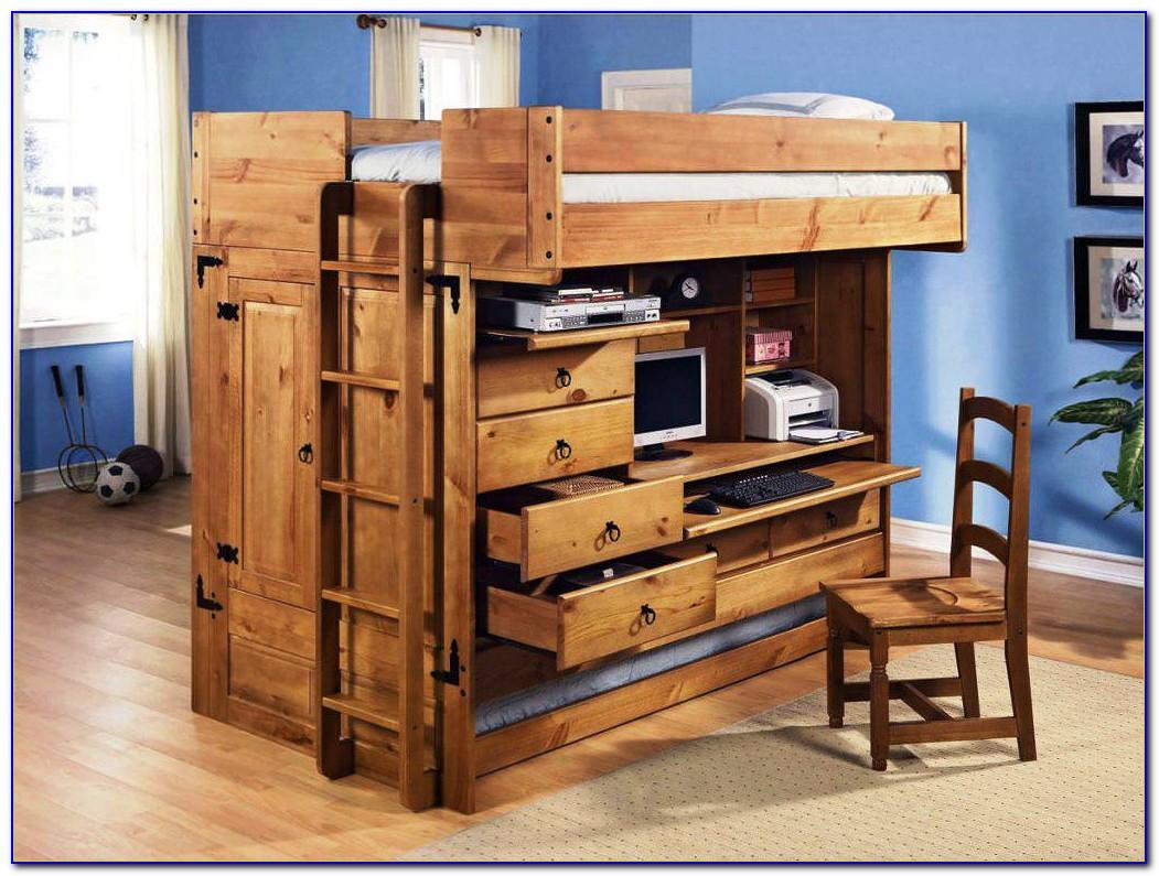 Bunk Bed And Desk Ikea Desk Home Design Ideas