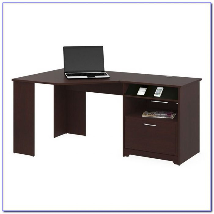 Bush Cabot Corner Computer Desk With Hutch