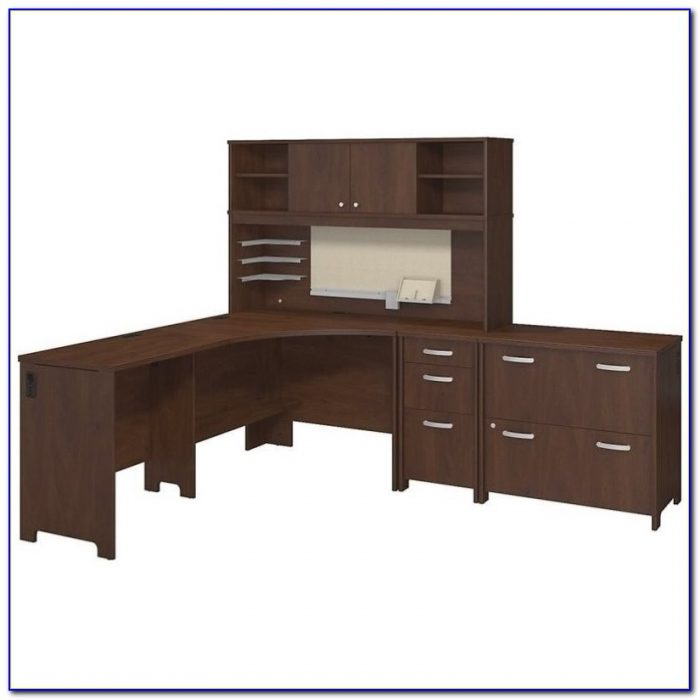 Bush Envoy Corner Desk Mocha Cherry Desk Home Design