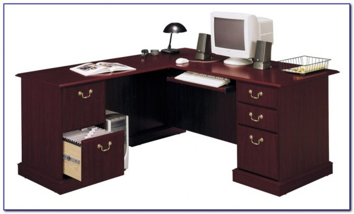 Bush Saratoga Executive Computer Desk Desk Home Design
