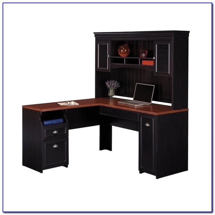 Bush Salinas Mission Computer Desk With Hutch Desk