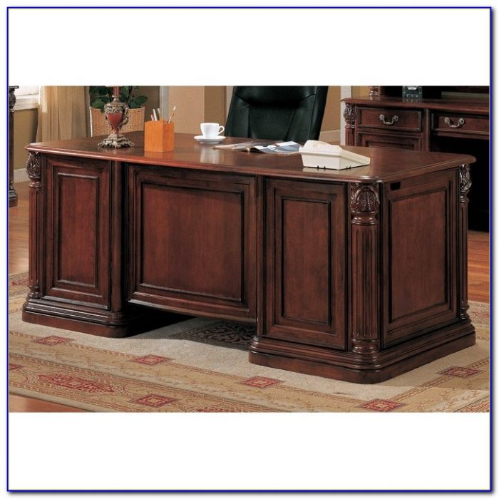 Solid Cherry Executive Office Furniture Desk Home