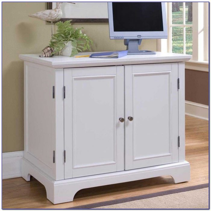 Compact Computer Desk Cabinet Desk Home Design Ideas