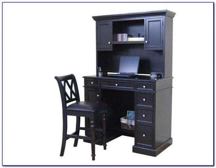 Black Laptop Desk With Hutch Desk Home Design Ideas