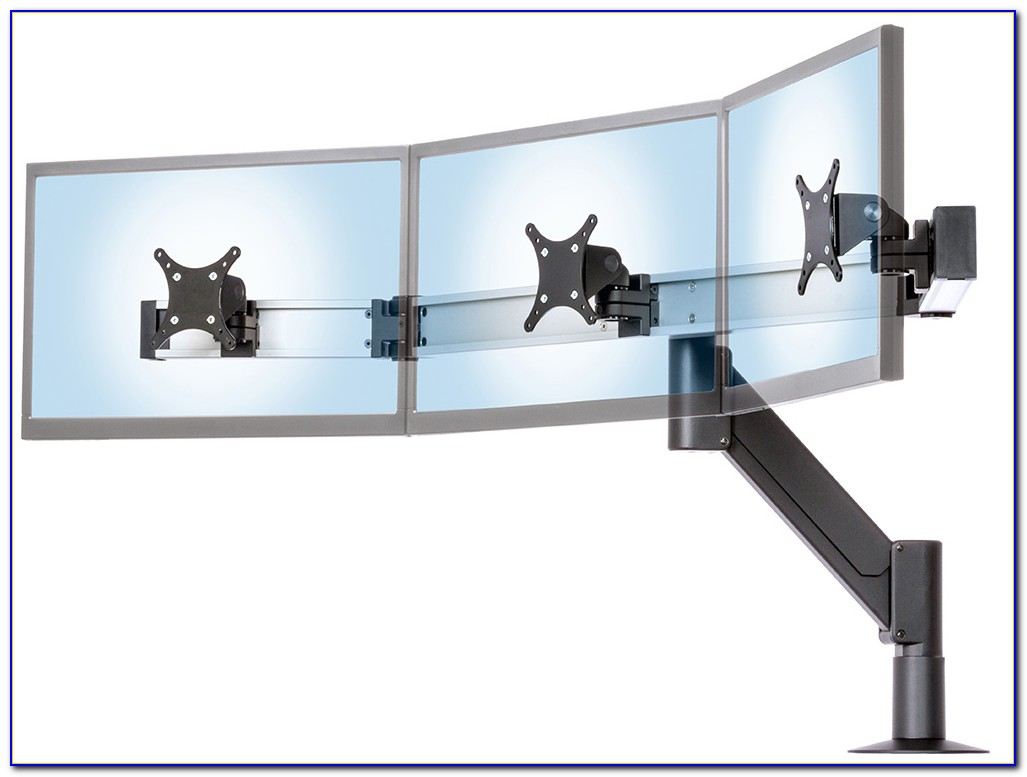 Siig Triple Monitor Desk Stand 13 To 24 Hostgarcia