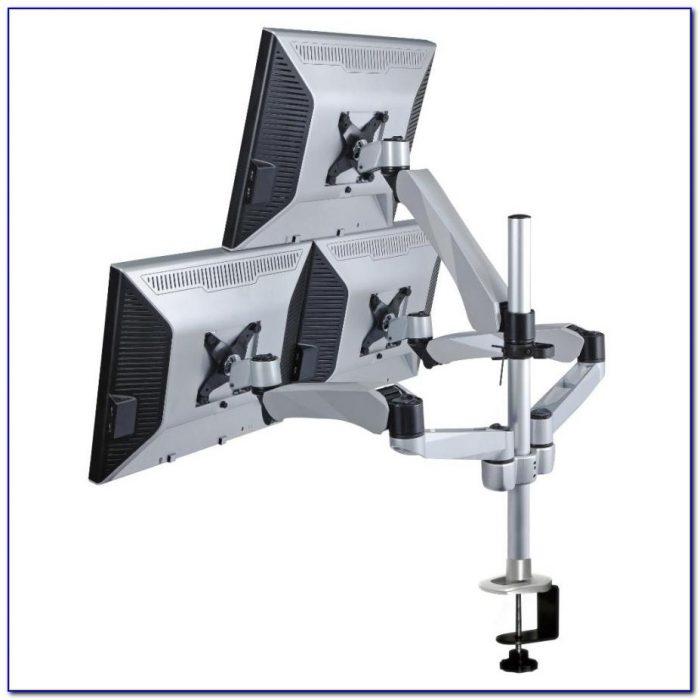 Desk Mounted Triple Monitor Stand Desk Home Design