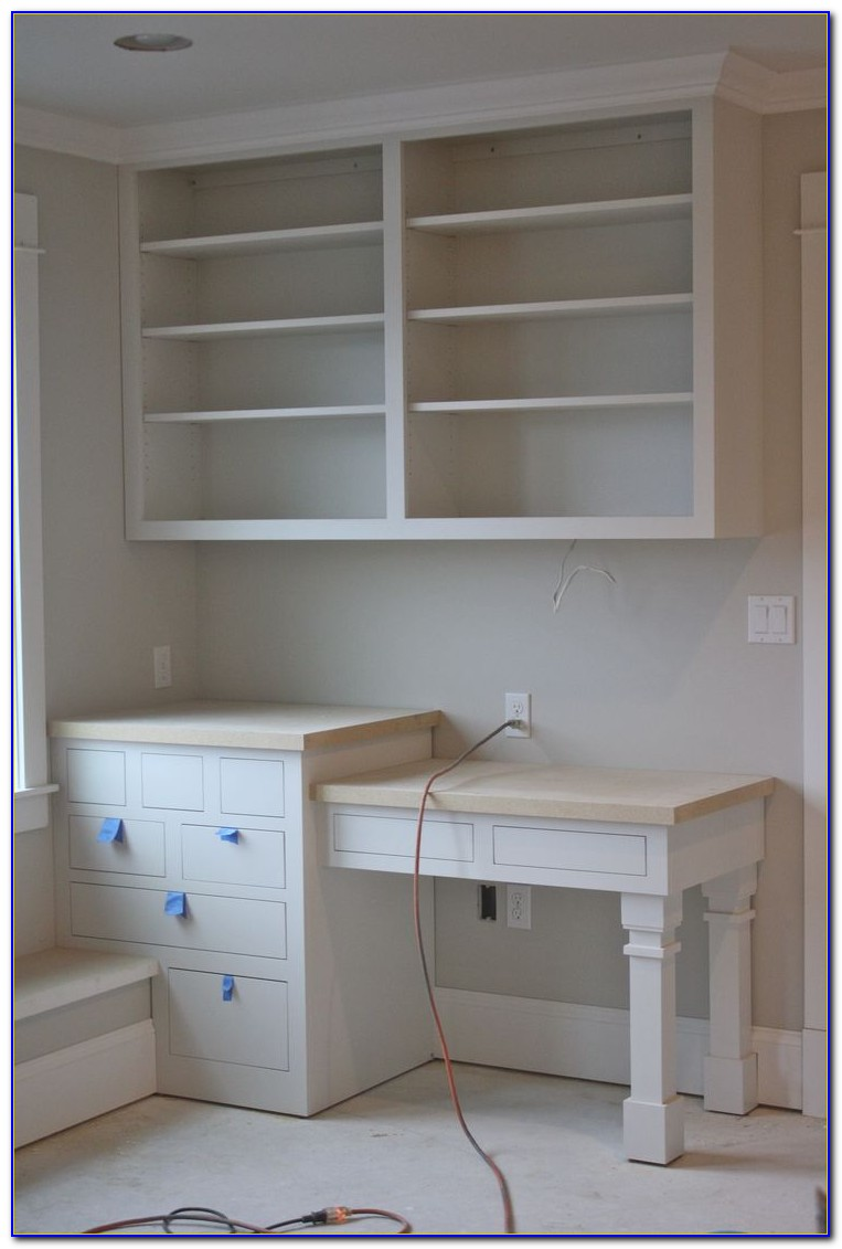 Diy Built In Desk And Bookshelves