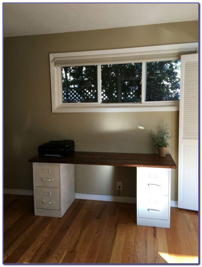 Diy Corner Desk With Filing Cabinets