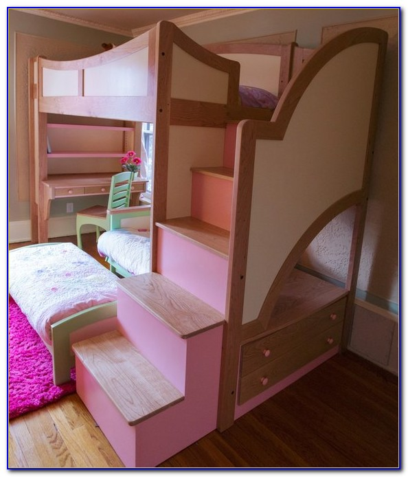 Girl Bunk Bed With Desk