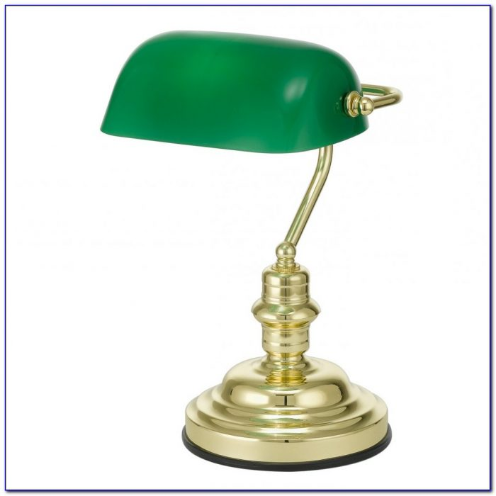 Green Shade Bankers Desk Lamp