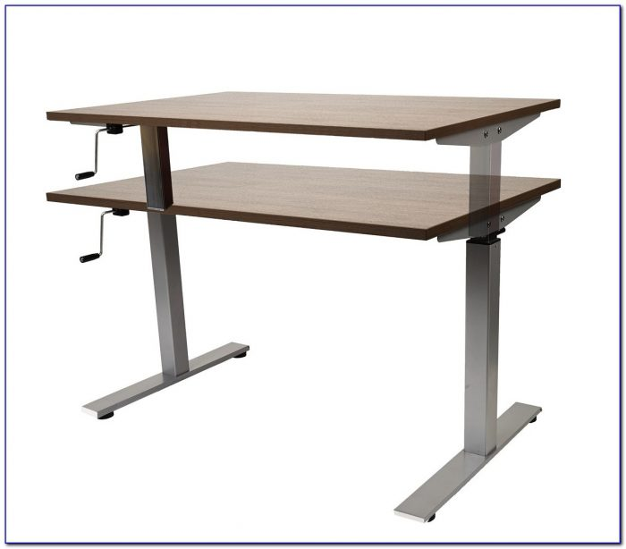 diy crank height adjustable desk desk home design ideas 25do61aner81973