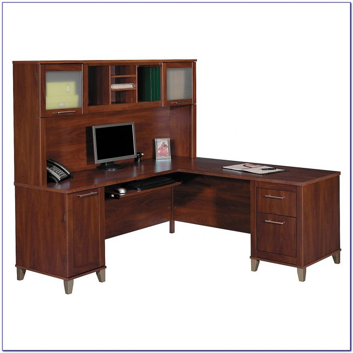 Home Office Furniture L Shaped Desk With Hutch